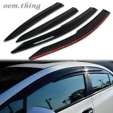 NEW!! For HONDA CIVIC 9TH MUGEN 4DR SEDAN WINDOW SIDE RAIN VISOR PC 2012-2015