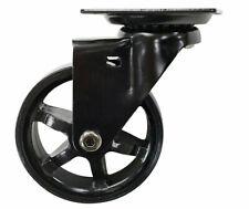 Shepherd Hardware Polyurethane/Aluminum 3in Dia. Swivel Caster Black 100 lb
