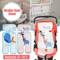 Summer Baby Stroller Seat Cover Cushion Ice Silk Breathable Chair Sleeping