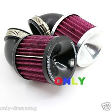 2pcs Air Cleaner Intake Filter System Replacement For Motorcycle Carb 45mm 48mm