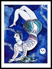 Marc Chagall Acrobat Poster Kunstdruck mit Alu Rahmen in schwarz 71x56cm