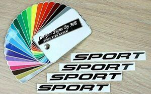 4x SPORT Car Door Handle Sticker Alloy Wheel Mirror Bumper Vinyl Decal Adhesive