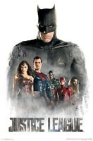 JUSTICE LEAGUE ~ GROUP IN MIST ~ 22X34 MOVIE POSTER ~ NEW/ROLLED!