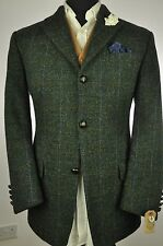 "Vtg Harris Tweed Textured Check Country Tailored Hacking Jacket 42"" #248"