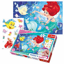 Trefl 54 Piece Jigsaw Puzzle + Marker Disney Princess Little Mermaid Girls Game