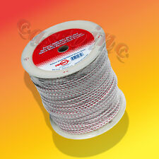 Starter Rope100' High Premium Smooth Braided  Red Tracer Rope # 6 x 3/16""