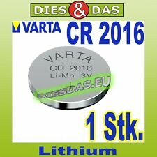 1 Stk. Varta CR 2016 Knopfzelle Knopfbatterie lose