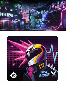 SteelSeries Gaming Mouse Pad Qck Large Neon Rider Edition Fast Shipping Japan