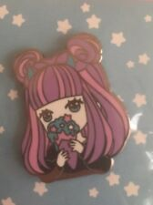 Star Eater Kawaii Devil Anime Girl Enamel Pin Snow Cone Pink And Purple