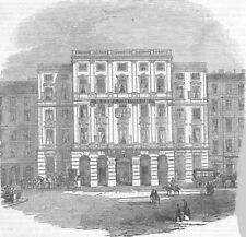 AUSTRIA. The Hotel Munsch at Vienna, antique print, 1855