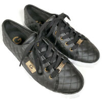 G by Guess Women's Backer2 Lace Up Leather Quilted Pattern Sneakers Size 9 M