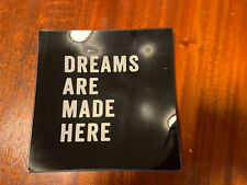 Dreams Are Made Here Glass Decor Fringe Studio Jewelry Tray