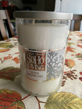 Limited Edition Yankee 2-Wick Candle SoHo Living Silver Snowflake 20oz