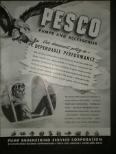 1941 PESCO PUMPS AND ACCESSORIES WWII vintage Trade print ad