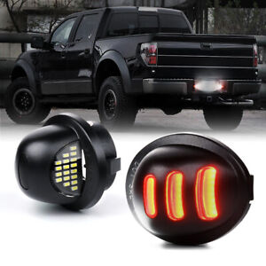 Xprite LED License Plate Light w/ DRL Assembly for 1990-2014 Ford F150 F250 F350