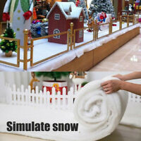 Soft Snow Blanket Christmas Artificial White Polyester Winter Xmas Home Ornament