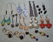 VINTAGE TO NOW MULTI COLOR ASSORTED LONG DANGLE PIERCED EARRINGS LOT