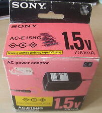 Sony AC 1.5V Mains Power Adaptor AC-E15HG ACE15HG AC240V 50Hz 7W DC 1.5V 700Ma