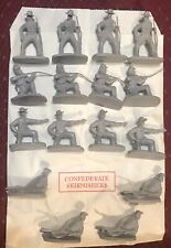 Butternut And Blue American Civil War Toy Soldiers 54mm 1/32 Plastic Figures set