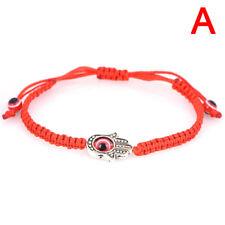 Handmade Red Rope String Bracelet Palm Eye Pendant Bracelet Thread YZ