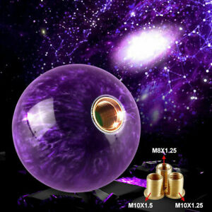 Purple Pearl Gear Shift Knob Round Ball Shape to Suit Most Models with Threads
