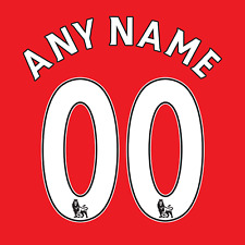 Premier League 07-17 Name Number Set ANY NAME/NUMBER Flock Manchester United