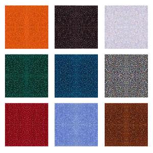 Miyuki Japanese Seed Beads Round Rocailles 15/0 11/0 8/0 Transparent, AB Colors