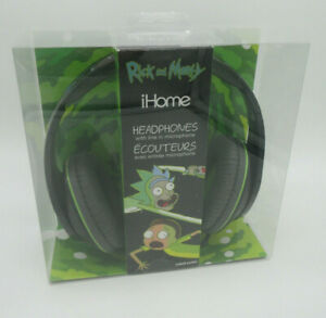 NIB Rick And & Morty IHome Over Ear Headphones w/Built In Mic