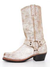 Frye Carmen Leather Distressed Boot White Women Sz 7 M 6721 *
