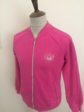 RETRO ADIDAS TRACKSUIT TOP SIZE LADIES 10-12 PINK