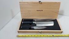 Kamikoto Single Edge Knife Set, Nakiri, Sujihiki, Petty Knife Aa