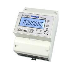 LCD Stromzähler Drehstromzähler mit S0, RS485 Modbus, Lastanzeige für Hutschiene