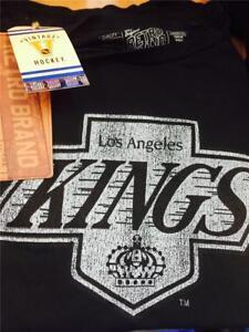 Retro Brand Mens LA Kings Chevy Logo Distressed SuperSoft Tee Shirt SHIPSFROM LA