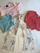 GapKids girls 4 pc lot berry/blue floral size 5-6 flare jean spring