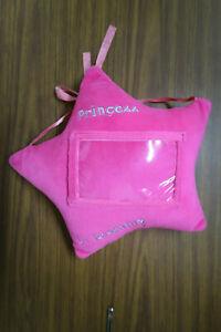 Pink Star-Shaped Princess in Training Photo Hanging Plush