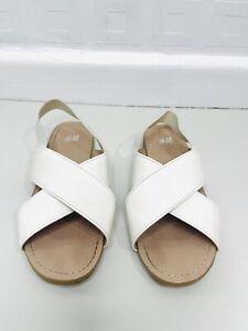 Girls White H&M Sandals Size 11