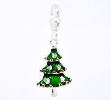 Charm Weihnachtsbaum  Winter Tanne  Anhänger Strass  Weihnachten  C585