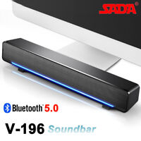 SADA Bluetooth 5.0 Speaker Soundbar Subwoofer Home Theater Sound Box for TV PC