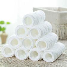 10X Novel New Baby Cotton Cloth Diaper Newborn Nappy Liners Insert 3 Laye`.JBDA