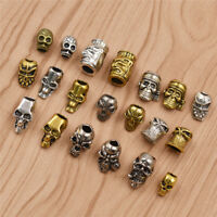 5/10Pcs Hair Braid Dread Dreadlock Beads Design Punk Cuff Clip Metal
