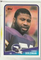 FREE SHIPPING-MINT-1988 Topps #157 Chris Doleman Vikings PLUS BONUS CARDS