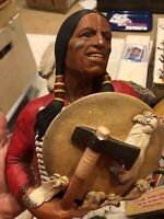 Vintage 1967 Bossons Cheyenne Indian Chief Chalkware Head England