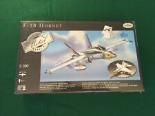 Testors F18 Hornet Airplane 1:100 Scale Diecast Metal Model Kit #5570 NEW SEALED