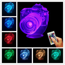 3D Optical Illusion Camera Lens Design USB Color Changing Lamp LED Night Light