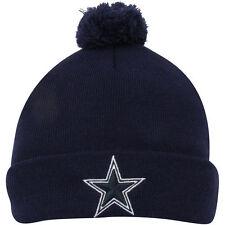Dallas Cowboys New Era Navy Blue Basic Pom Knit Hat 1800fd708
