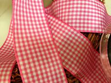 Bows Ribbon and Lace~ Berisfords Gingham Ribbon Shade 72 Shocking Pink