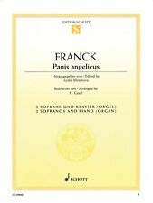 Panis Angelicus 2 Sopranos and Piano or Organ Vocal NEW Schott 049017586