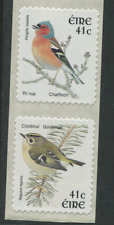 IRELAND birds 2 stamps self adhesive from coil 41c Goldcrest & Chaffinch EIRE um