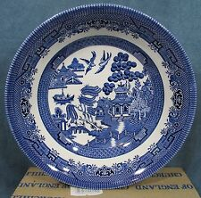 """Blue Willow Dinnerware 9"""" Vegetable Bowl Round Dish Churchill Made England NEW"""