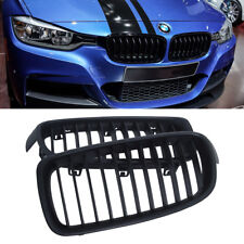 2x Matte Black Front Kidney Grill Grilles For BMW F30 F31 F35 3 Series 12-16 UK